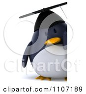Clipart 3d Penguin Graduate With A Sign 2 Royalty Free CGI Illustration