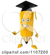 Clipart 3d Graduate Pencil Presenting Royalty Free CGI Illustration