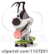 3d Jack Russell Terrier Dog Skateboarding 1