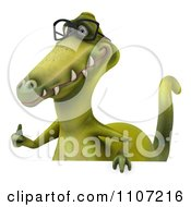 Clipart 3d Dinosaur Wearing Glasses With A Sign 3 Royalty Free CGI Illustration