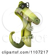 Clipart 3d Dinosaur Wearing Glasses With A Sign 4 Royalty Free CGI Illustration