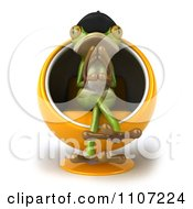 Clipart 3d French Springer Frog Thinking And Sitting In A Pod Chair 1 Royalty Free CGI Illustration by Julos