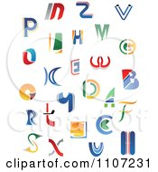 Clipart Abstract Colorful Letters A Through Z 2 Royalty Free Vector Illustration