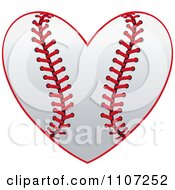 Clipart Baseball Heart With Red Stitches Royalty Free Vector Illustration by Vector Tradition SM