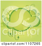 Clipart Green Bubble Bamboo Frame With Foliage Royalty Free Vector Illustration by Amanda Kate