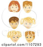 Clipart Happy Boy And Girl Faces Royalty Free Vector Illustration