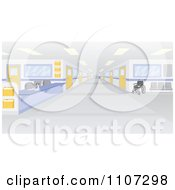Clipart Deserted Hospital Interior Royalty Free Vector Illustration