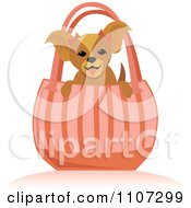 Happy Toy Dog In A Pink Purse