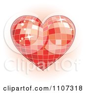 Red Mosaic Disco Heart