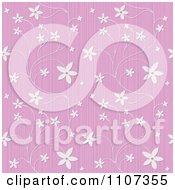 Seamless Purple Textured Floral Background Pattern