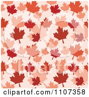 Seamless Autumn Maple Leaf Background Pattern