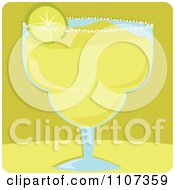 Clipart Lime Wedge Served On A Margarita Glass Over Green Royalty Free Vector Illustration by Amanda Kate
