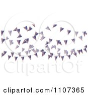 Clipart 3d American Flag Bunting Banners Over White 1 Royalty Free CGI Illustration