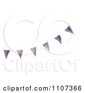 Clipart 3d American Flag Bunting Banners Over White 2 Royalty Free CGI Illustration