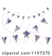 Clipart 3d American Flag Bunting Banners Over White 4 Royalty Free CGI Illustration
