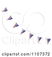 Clipart 3d American Flag Bunting Banners Over White 5 Royalty Free CGI Illustration