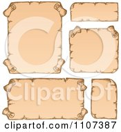 Clipart Sketched Antique Parchment Scrolls 1 Royalty Free Vector Illustration