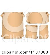Clipart Parchment Scrolls 1 Royalty Free Vector Illustration