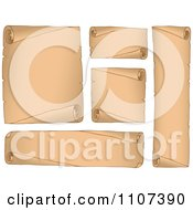 Clipart Parchment Scrolls 2 Royalty Free Vector Illustration