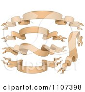 Clipart Parchment Ribbon Banners Royalty Free Vector Illustration