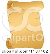Clipart Curled Aged Parchment Page 1 Royalty Free Vector Illustration