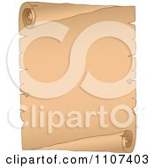 Clipart Curled Aged Parchment Page 2 Royalty Free Vector Illustration