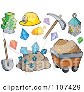 Clipart Mining Items Royalty Free Vector Illustration by visekart