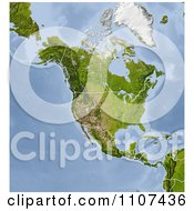 Clipart Shaded Relief Map Of North America With United States And Canada State And Provincial Borders Royalty Free CGI Illustration by Michael Schmeling
