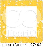 Textured Yellow Floral Background Frame With Copyspace