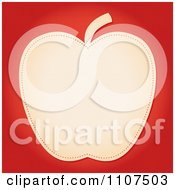 Clipart Beige Apple With Seams On Red Royalty Free Vector Illustration by Character Market