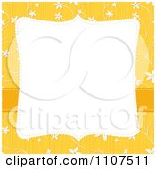 Square Frame With Copyspace Over A Textured Yellow And White Floral Pattern