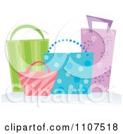 Clipart Colorful Shopping Or Gift Bags Royalty Free Vector Illustration