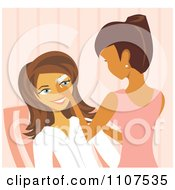 Clipart Woman Waxing A Clients Eyebrows In A Salon Royalty Free Vector Illustration by Amanda Kate