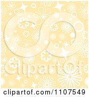 Seamless Beige And White Floral Pattern Background