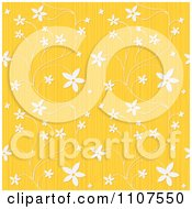 Seamless Textured Yellow Floral Background Pattern