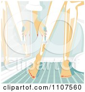 Clipart Woman Shaving Her Legs With Cream And A Razor In A Bathroom Royalty Free Vector Illustration by Amanda Kate