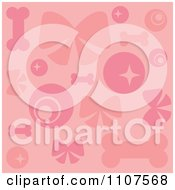 Clipart Background Of Pink Dog Items Royalty Free Vector Illustration by Amanda Kate