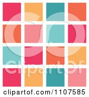 Background Of Pink Orange And Turquoise Tiles On White