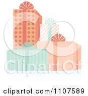 Clipart Group Of Baby Shower Gifts Royalty Free Vector Illustration
