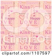 Seamless Pink Love Word Pattern Background