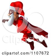 Clipart 3d Super Santa Flying 4 Royalty Free CGI Illustration
