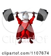 3d Super Santa Lifting A Heavy Barbell 4