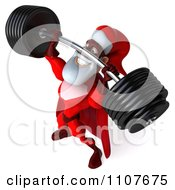 3d Super Santa Lifting A Heavy Barbell 5