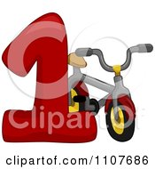 Clipart Number One With 1 Bike Royalty Free Vector Illustration