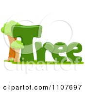 Clipart The Word Tree For Letter T Royalty Free Vector Illustration by BNP Design Studio