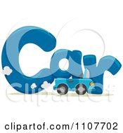 Clipart The Word Car For Letter C Royalty Free Vector Illustration