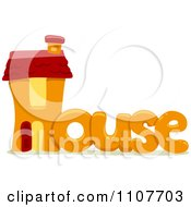 Clipart The Word House For Letter H Royalty Free Vector Illustration