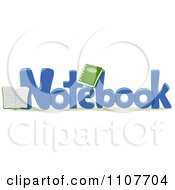 Clipart The Word Notebook For Letter N Royalty Free Vector Illustration