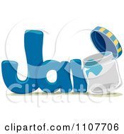 Clipart The Word Jar For Letter J Royalty Free Vector Illustration