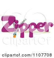 Clipart The Word Zipper For Letter Z Royalty Free Vector Illustration